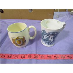 LOT OF 2 ROYALTY MUGS (1937 AND 1911)