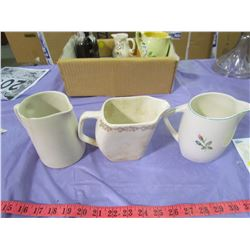LOT OF CREAM PITCHERS (SOME CHIPPED)