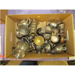 LOT OF SILVER PLATED ITMES (CREAM, SUGAR, ETC)