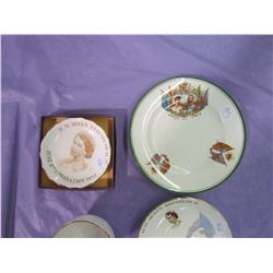 LOT OF 4 PIECES ROYALTY ITEMS (PLATES, CUP, SAUCER)