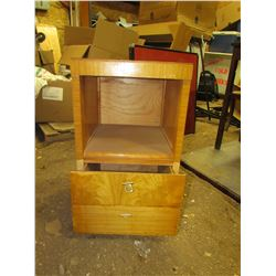 """WOODEN SIDE TABLE WITH DRAWER (14""""W)"""