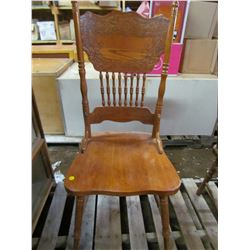 """WOODEN CHAIR (26"""" BACK)"""