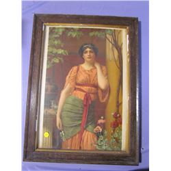 """PICTURE AND FRAME (LADY) *17"""" X 23""""*"""