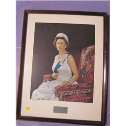 TWO PICTURES AND FRAMES (QUEEN AND PHILIP)