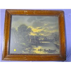 """PICTURE AND FRAME (COTTAGE ON LAKE) *20"""" X 24""""*"""