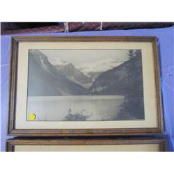 TWO PICTURES AND FRAMES (MOUNTAIN SCENERY)
