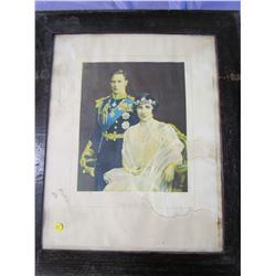 """PICTURE AND FRAME (GEORGE VI-1937) *25"""" X 30""""*"""