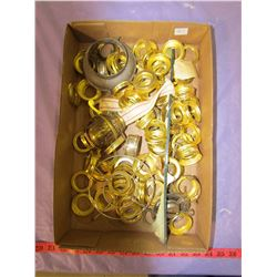 LOT OF LAMP PARTS AND COLLARS