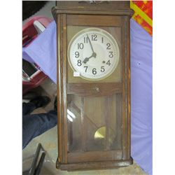 """WALL CLOCK (COMES WITH KEY AND PENDULUM) *31"""" TALL*"""