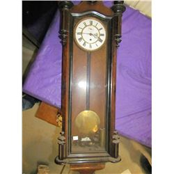 """WALL CLOCK (COMES WITH KEY, PENDULUM & WEIGHT) *44"""" TALL*"""