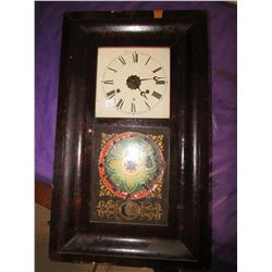 WALL CLOCK (E.N. WELCHMAN) *COMES WITH KEY AND WEIGHT*