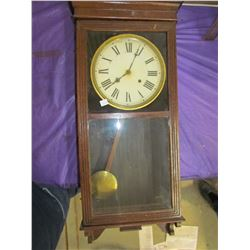 """WALL CLOCK (COMES WITH KEY AND PENDULUM) *36"""" X 16"""" TALL*"""