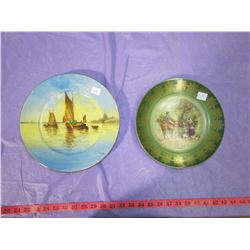 """TWO COLLECTOR PLATES (HAND PAINTED) *9"""" & 10""""*"""
