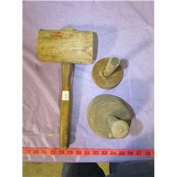 BUTTER PRESS AND MALLET