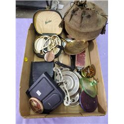 LOT OF COLLECTABLES- ELECTRIC SHAVERS, STONE SHARPENER ETC