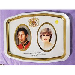 "CHARLES AND DIANA TRAY (15"" X 11"")"