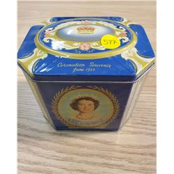 ROYALTY TIN, 1953 CORONATION