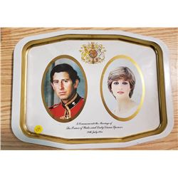 CHARLES AND DIANA SERVING TRAY