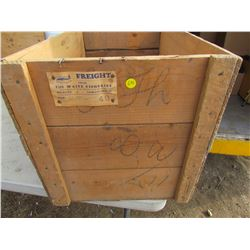WOODEN CRATE (THE WAITE FISHERIES, BIG RIVER) *16 X 16.5 X 28*
