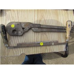 DRAW KNIFE AND PIPE WRENCH