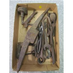 LOT OF TOOLS AND ASSORTED WRENCHES