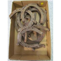 LOT OF 10 VINTAGE HORSESHOES