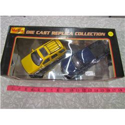 TWO DIE CAST CARS FROM THE REPLICA COLLECTION