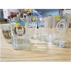 LOT OF 5 ASSORTED PIECES OF ROYALTY GLASSWARE