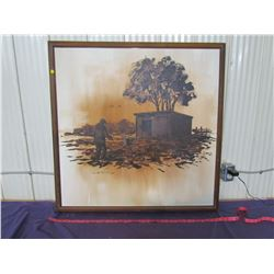 """TWO PICTURES WITH FRAMES (38"""" X 38"""") *ONE FRAME BROKEN ON BACK*"""