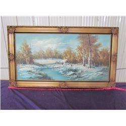 """PICTURE AND FRAME (31"""" X 55"""")"""