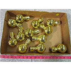 12 REPRODUCTION BRASS KNOBS