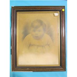 """PICTURE AND FRAME (19 X 23"""" SOME BACK/FRAME DAMAGE)"""