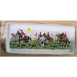 BAY RUTH PLATE/SERVING DISH - HUNTING SCENE