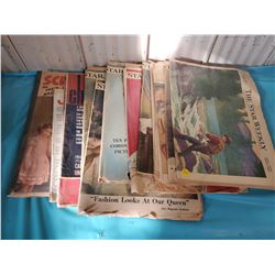 LOT OF STAR WEEKLY MAGAZINES, 1950'S