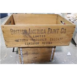 2 WOODEN CRATES- AMMO AND PAINT COMPANY