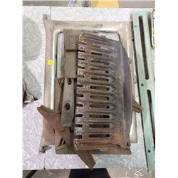 LOT OF STOVE PARTS INCLUDING ROUND DOOR