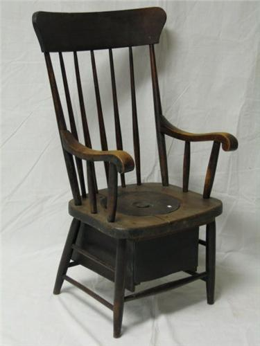 Image 1 : 19th Century Oak Commode Chair ...