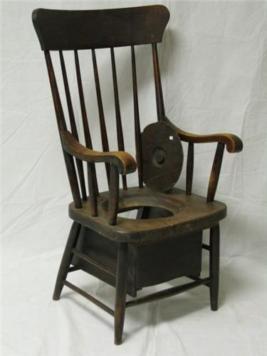 Image 2 19th Century Oak Commode Chair