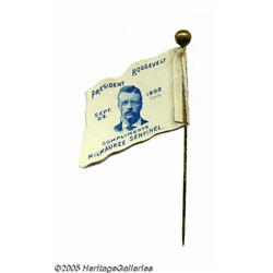 Rare Teddy Roosevelt Stick Pin in Choice Conditio