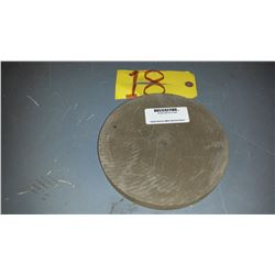 "Rub-O-Cut Rubber Wheel 7"" x 3/4"" x 1/2"" Grit: A180"