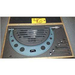 """Mitutoyo 104-136 Interchangeable Anvil Outside Micrometer Set 6""""-12"""""""