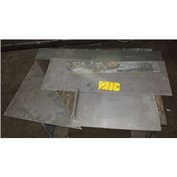 Lot of assorted Aluminum Plate