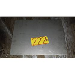 """Stainless Plate (304) 16""""1/2 x 12""""1/2 x 1/8"""""""