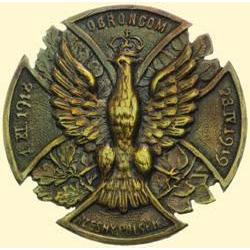 POLAND, MEDAL, DEFENDERS OF POLISH NATIONS (COMMEMORATIVE BADGE OF THE RZESNA POLSKA SUBSECTION 1921