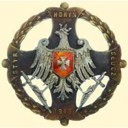 POLAND, MEDAL, HORYN. (COMMEMORATION BADGE FOR WOLYN, 1919)