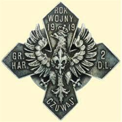 POLAND, MEDAL, SCOUTS CROSS 1919. (COMMEM. BADGE OF THE SCOUT GROUP IN THE 2ND DIVISION OF THE LEGIO