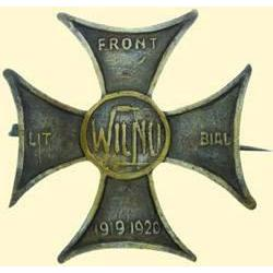 POLAND, MEDAL, LITHUANIAN - WHITE RUSSIAN FRONT (WILNO-CROSS 1920)