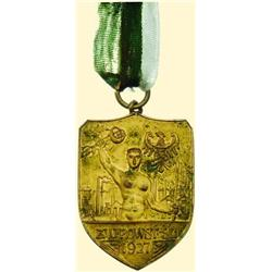 POLAND, MEDAL, SILESIAN UPRISING PARTICIPANT, 1927 (UNION OF THE SLASK UPRISING VETERANS - SPORTING