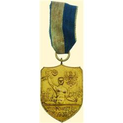 POLAND, MEDAL, SILESIAN UPRISING PARTICIPANT, 1930 (UNION OF THE SLASK UPRISING VETERANS - SPORTING