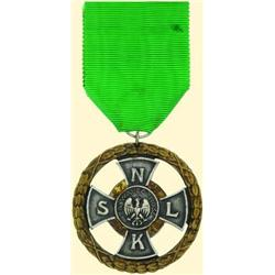 POLAND, MEDAL, CROSS OF VALOR OF THE CENTRAL COMMITTEE CITIZENS GUARD 1922
